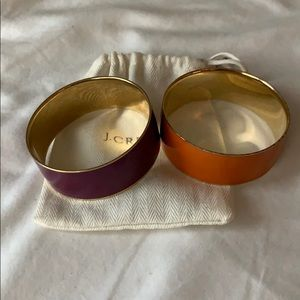 J. crew gold plated bangles